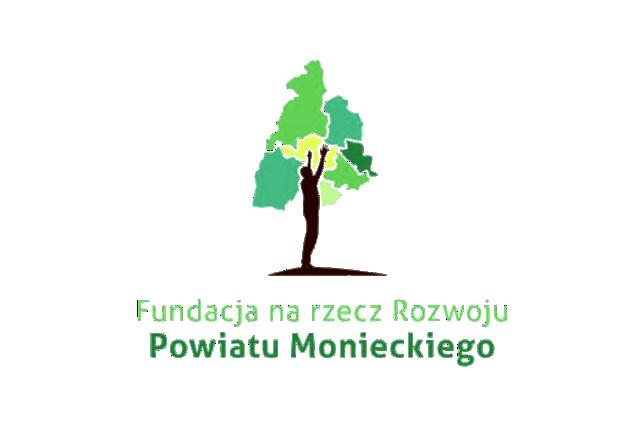 Logo Fundacji n rz Rozwoju Powiatu Monieckiego małe